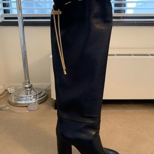 Shoes - Lanvin leather knee high boots